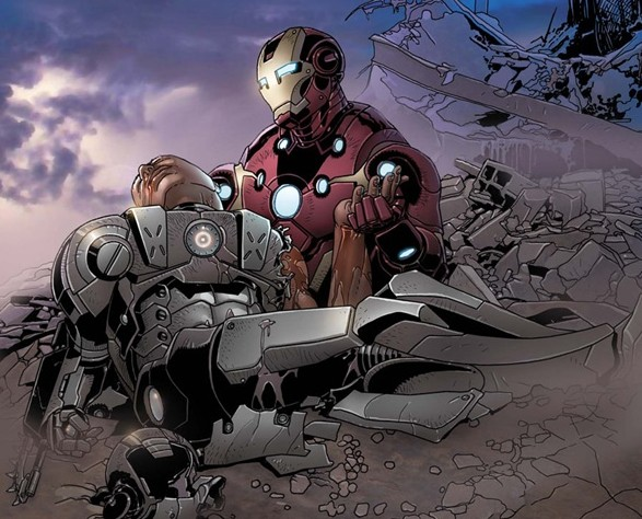 Ironman holding war machine